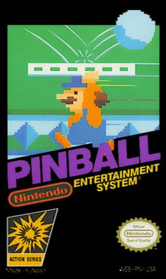 Pinball is a game for the NES released in It is based on the arcade machine of the same name. Classic Nes Games, Classic Video Games, Retro Video Games, Snes Classic, Retro Arcade, Retro Gamer, Video Game Posters, Video Game Art, Video Clip
