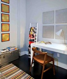 Modern Home Office Furniture, Office Furniture Design, Office Interior Design, Home Office Decor, Office Interiors, Furniture Nyc, Home Decor, Office Ideas, Black Hardwood Floors