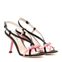 c0ae2d0d858 Miu Miu Satin Sandals in Pink (nero)