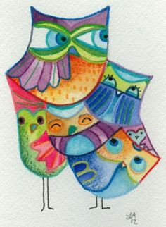 Image result for 'watercolor owl cute'