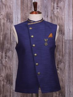 Plain Navy Silk Waistcoat, mens style, mens fashion