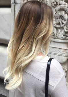 caramel and blonde balayage for brunettes