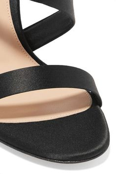 Gianvito Rossi - Opera Satin Sandals - Black - IT40.5