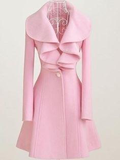 Ladylike Casual Long Sleeve Blended Overcoat  - $28.69  www.teelieturner.com