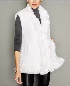 c1d70e432c The Fur Vault Knitted Rex Rabbit Fur Vest