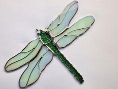 Stained Glass Dragonfly Suncatcher by GlassofDistinction on Etsy