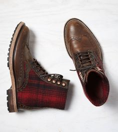 Dark Brown Woolrich Millwright Boot #shoes #menfashion #boots