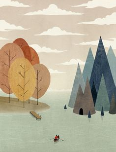 The Muted and Mystical Illustrations of Dadu Shin in Illustration