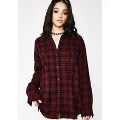 Obey Fairuza Shirt ($70) ❤ liked on Polyvore featuring tops