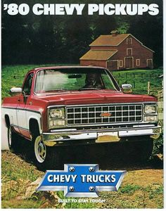 Vintage Chevrolet Pick-up Ad 1980