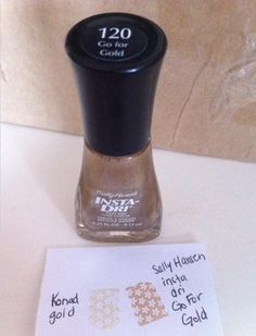Good for stamping: Sally Hansen insta-dry go for gold