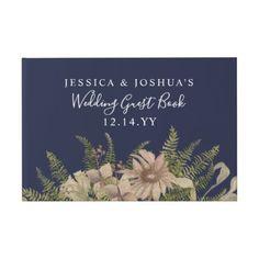 Jewel Mandala Wedding Coral Id Guest Book  Script Gifts