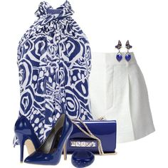 """""""Blue and White"""" by feelgood35 on Polyvore"""