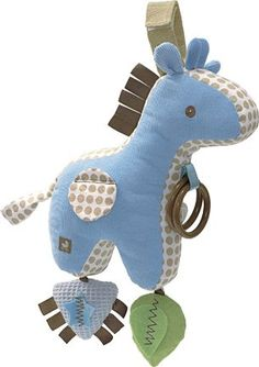 Baby Dotted Giraffe Activity Toy - Blue
