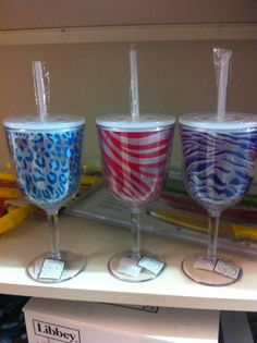 Sippy cup wine glasses - now you don't have to worry about spilling and wasting the wine!