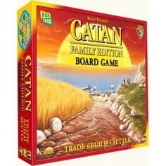 Settlers of Catan Family Edition Board Game Brand New Settlers Of Catan, The Settlers, Catan Board Game, Road Trip Games, Fun Fair, Night Wishes, Fun Games, Card Games, Boards