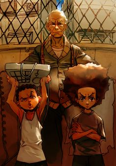 BOONDOCKS Raunchy and hysterical. Kinda of a Chris Rock meets Family Guy thing.