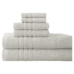 Bring spa-worthy appeal to your master bath with this Egyptian cotton towel set, perfect for stacking on the guest vanity to make out-of-towners feel at home...