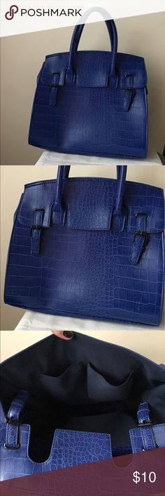 "Mossimo cobalt blue large tote bag Cobalt blue large tote bag - textured - dual carry handles - snap flap closure - 12"" x 14"" x 7"" Mossimo Supply Co. Bags Totes"