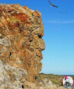 The nature face rock #art #nature #photography #cakkocem #wallpaper #landscape #beach #island #waterfall #cliff #rocks #sculpture #statue #livingoutdoor... - Cak Kocem fantasy waterfall - Google+