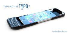iPhoneにQWERTYキーボードを追加するTYPOキーボードケース
