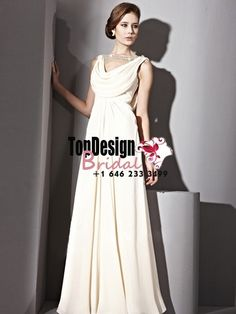 Wholesale Vestidos De Fiesta 2017 Brand New Evening Party Gown Straps Beading Off White Chiffon Prom Dresses