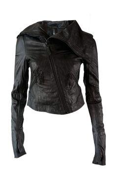 Barbara I Gongini leather jacket. Shop online now at www.sustainlux.com