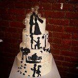 cake idea Silhouette Cake, Wedding Cakes, Bubbles, Sugar, Desserts, Ideas Para, Jasmine, Food, Design