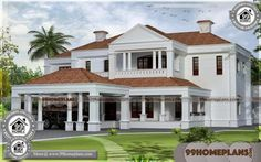 Great Colonial Home Design: Colonial Style Homes Colonial Style Design Indian House Exterior Design, Modern Exterior House Designs, Kerala House Design, Modern House Plans, House Exteriors, Modern Design, 2 Storey House Design, House Front Design, Small House Design