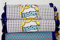 Superhero candy bar wrappers via Kara's Party Ideas karaspartyideas.com #superhero #party
