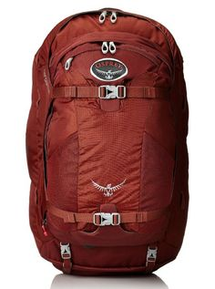 Osprey Farpoint 55 Travel Backpack 2015 Model Mud Red MediumLarge *** Check out the image by visiting the link. Osprey Farpoint, Internal Frame Backpack, Make My Trip, Ultimate Packing List, Best Travel Backpack, Travel Advise, Gifts For Wedding Party, Party Gifts, Backpacking Europe