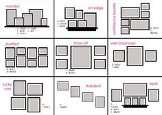 Gallery 1 in photo wall art hanging photos frame layout picture arrangements arrangement on 3 frames Photowall Ideas, Eclectic Gallery Wall, Picture Arrangements, Ideas Prácticas, Decor Ideas, Hanging Photos, Hanging Frames, Photo Hanging, Hanging Pictures On The Wall