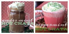 two amazing drinks made with andes mints, rumchata, and a CROCK POT.  andes mint hotChata!! amazing