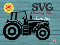 Tractor SVG Farm Tractor SVG Tractor Design Tractor by Schnookywoo Tractor Silhouette, Silhouette Cutter, Silhouette Vinyl, Silhouette Cameo Projects, Silhouette Files, Silhouette Machine, Silhouette Design, Vinyl Crafts, Vinyl Projects