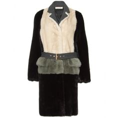 Marni Fur Coat. This is so stunning in it's cut! Looks as if it's a suit jacket with peplum and straight skirt, but really one piece. INSPIRED!