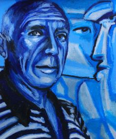 Pablo Picasso master artist blue period by PaintedValentineArt, $75.00