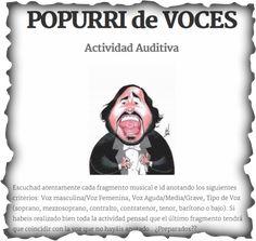 Actividad Auditiva sobre las Voces