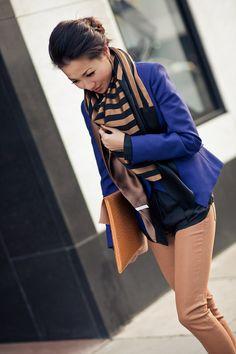 From blog entry: http://www.wendyslookbook.com/2012/04/honeycomb-black-silk-stripe-scarf/
