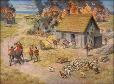 Attack by Monckton on Acadian villages close to the Quebec border 1757.