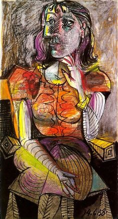 Pablo Picasso, 1938 Femme assise 1