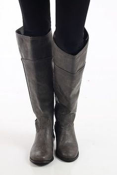 We love these boots! The equestrian style is right on trend and these awesome pieces of footwear make a great statement! Get yourself a pair before the season is over!These run a bit small. We recommend going up half a size.calf circumference: 16inchesshaft: 18inches