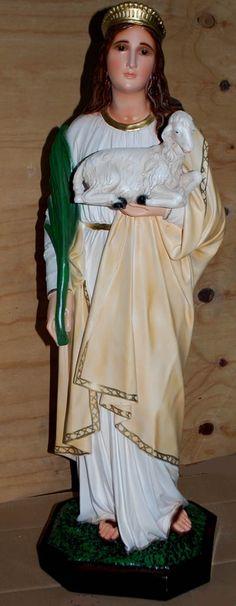 Citta Cattolica: Statue: Santi Femmine in Vetroresina Resina e Gesso