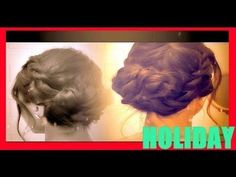 ★ HOLIDAY HAIRSTYLES: HOW TO FRENCH TWIST ROPE BRAID UPDO HAIR TUTORIAL VIDEO FOR MEDIUM LONG HAIR