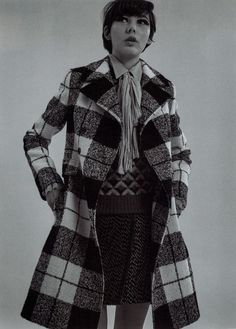 IO DONNA fashion editorial featuring Fay British-infused, tartan wool coat.
