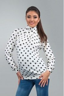 Polka-dotted polo-neck