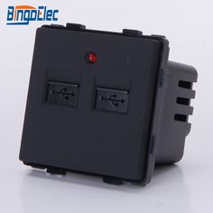 EU and UK standard Black wall USB charging socket part ,with led indicator,CE Hot sale