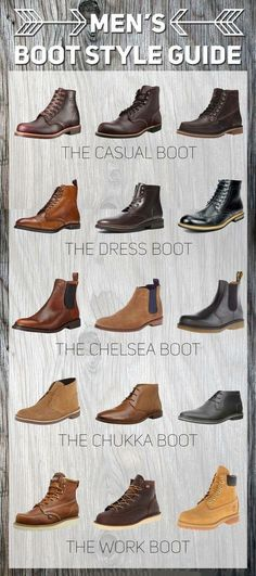 VISIT FOR MORE A Guide to Mens Boot Styles learn more at www.findyourboots The post A Guide to Mens Boot Styles learn more at www.findyourboots appeared first on Dress. Men's Shoes, Shoe Boots, Men Boots, Casual Boots For Men, Casual Shoes, Swag Shoes, Casual Bags, Style For Men Casual, Formal Shoes