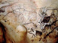 Pintura ruestre de la cueva de Chauvet, en el sureste de Francia