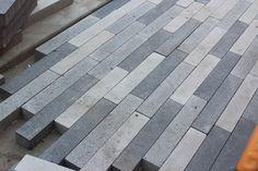 Pavers Precast Concrete, Concrete Patio, Paving Pattern, Linear Pattern, Landscape Architecture, Landscape Design, Pavement Design, Paving Design, Painting Antique Furniture