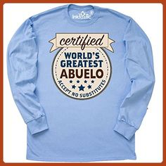 Inktastic - Certified World's Greatest Long Sleeve T-Shirt Large Light Blue - Relatives and family shirts (*Partner-Link)